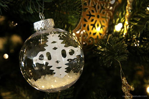 Floating Snowflake Ball Ornament