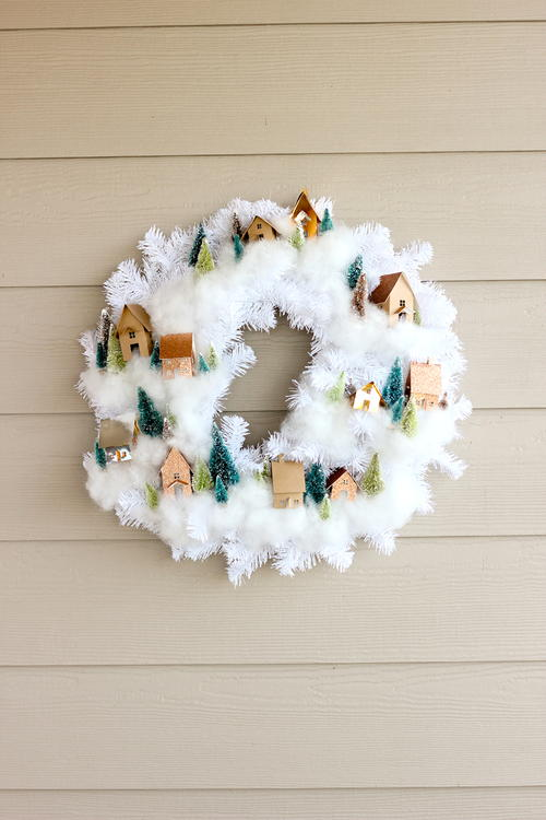 Mini House Wreath Tutorial