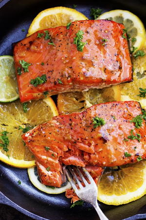 Just Like Olive Garden's Citrus Glazed Salmon