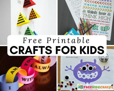 free printable crafts for kids - Printable Crafts For Children