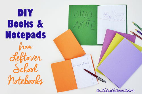 Make DIY blank books from leftover notebook paper