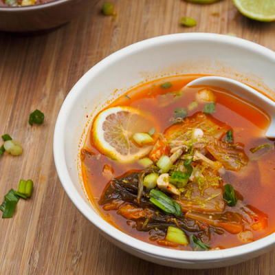 Kimchi Soup with Chicken