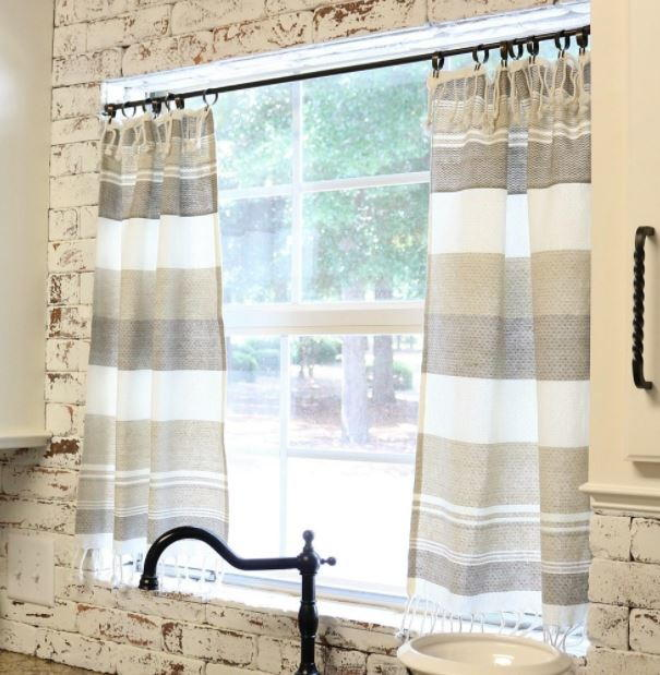 Dishtowel Curtains