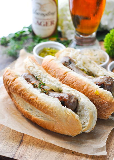 3-Ingredient Grilled Beer Brats