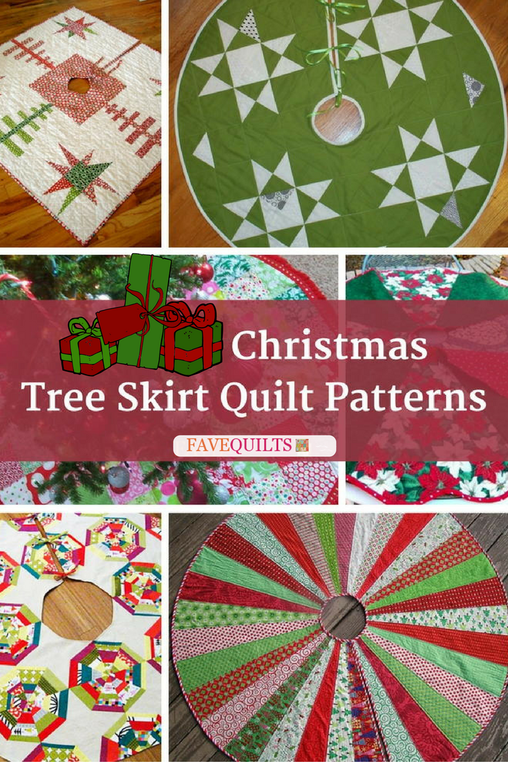 13 christmas tree skirt quilt patterns favequiltscom - Quilted Christmas Tree Skirt Pattern
