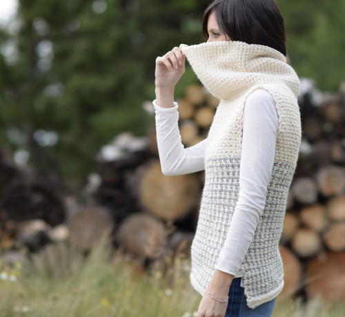 Crocheted Cowl Vest