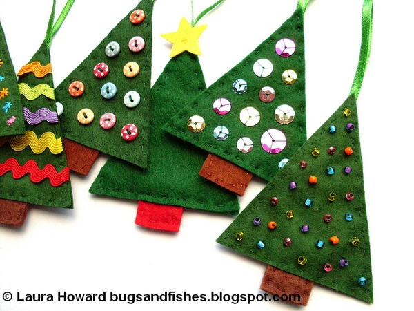 Sew Easy Felt Christmas Tree Ornaments