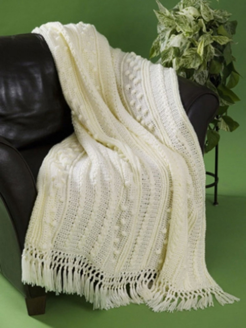 Simple Aran Crochet Afghan Allfreecrochetafghanpatterns
