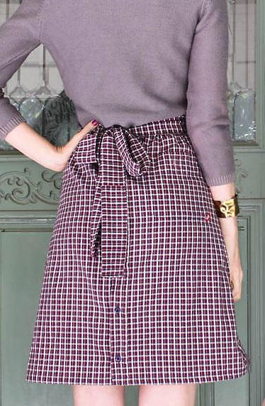 Plaid Button Down Skirt Refashion
