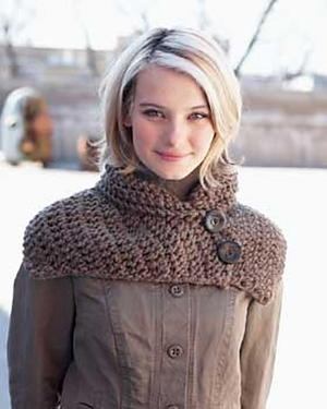 Button Scarf Wrap