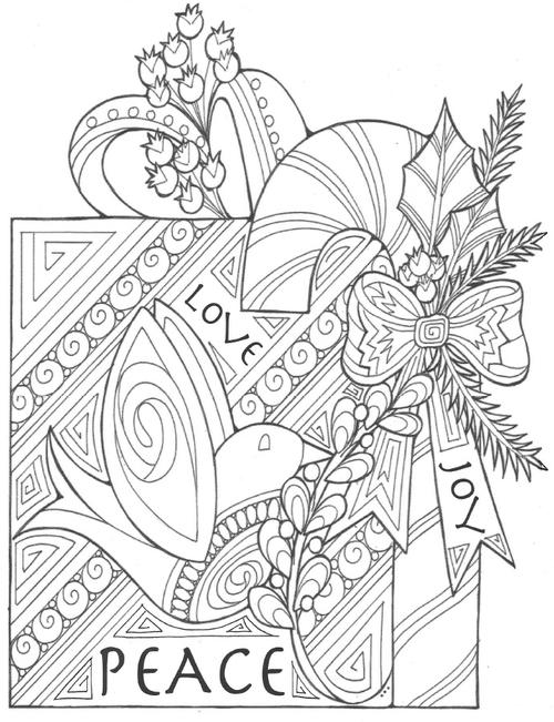 the gift of peace christmas coloring page