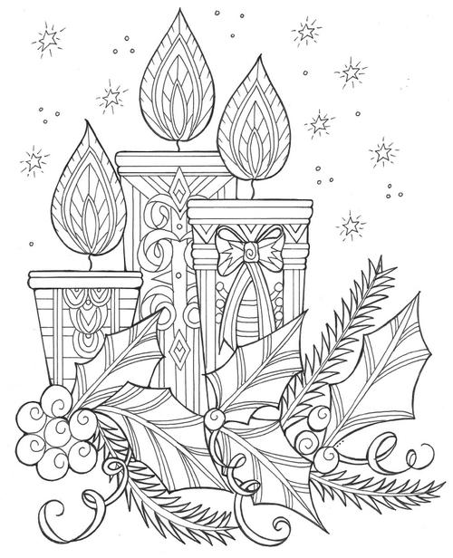 Enchanting Candles Christmas Page