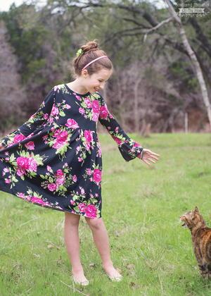 Bell Sleeve T-Shirt Dress Pattern