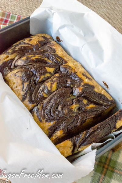 Low-Carb Chocolate and Peanut Butter Bread