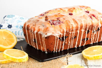 Glazed Raspberry Lemon Bread