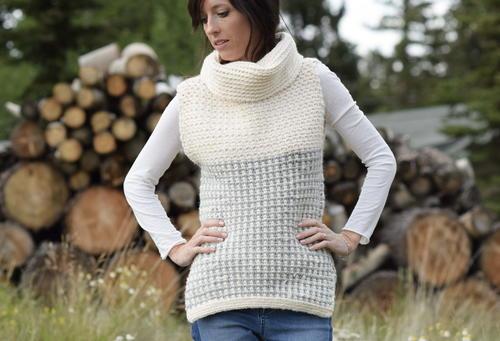 Easy Crocheted Cowl Vest Allfreecrochet