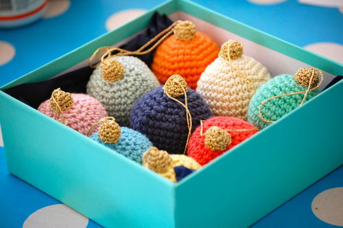 Crochet Christmas Baubles Allfreecrochet