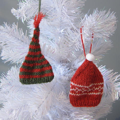 Knit Tiny Hat Ornaments | AllFreeChristmasCrafts.com