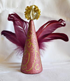 Simple Elegance Magenta Christmas Angel