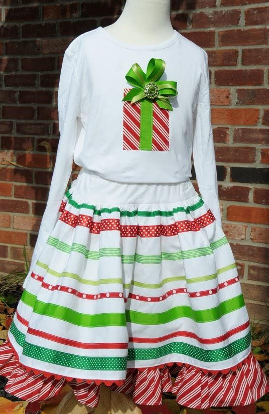 Be-Ribboned Skirt and T-Shirt