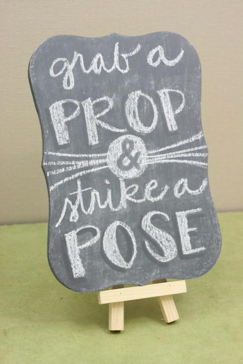 DIY Wedding Photo Booth Sign