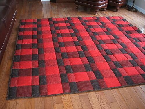 Plaid for Dad Comfort Quilt Pattern | FaveQuilts.com : quilt dad patterns - Adamdwight.com