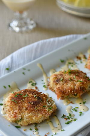 Crab Cakes with Cajun Cream Sauce