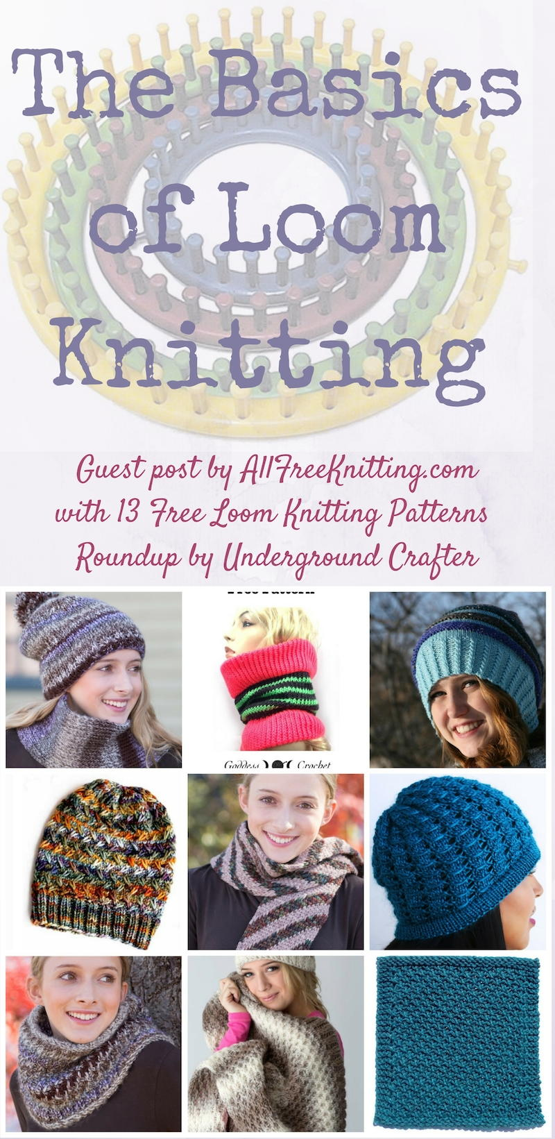 Basics Of Loom Knitting With 13 Free Loom Knitting Patterns