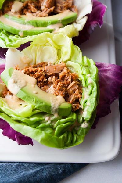 5 Minute Cajun Tuna Lettuce Wraps Faveglutenfreerecipes