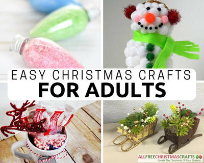 36 really easy christmas crafts for adults for Christmas crafts for adults to sell