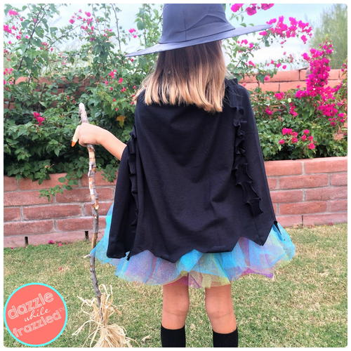 DIY Kids Black Witches Cape