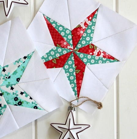Christmas Star Quilt Block Pattern