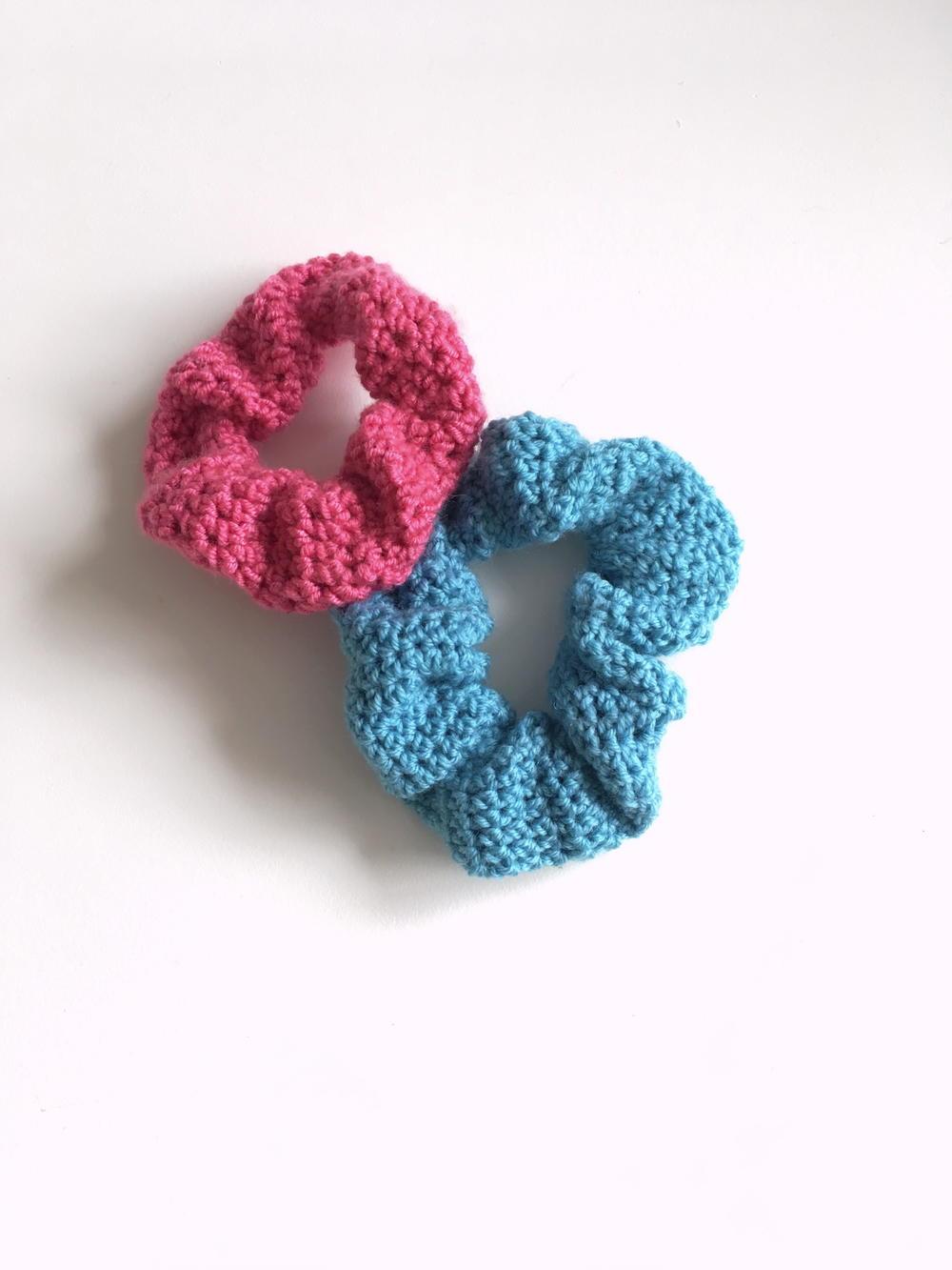 Crochet Hair Scrunchie   AllFreeCrochet.com