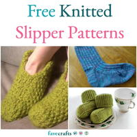 16 Free Knitted Slipper Patterns