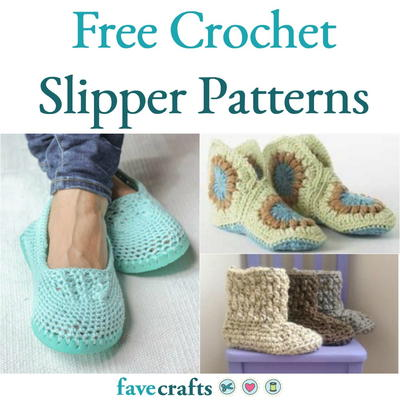 17 Free Crochet Slipper Patterns | FaveCrafts.com
