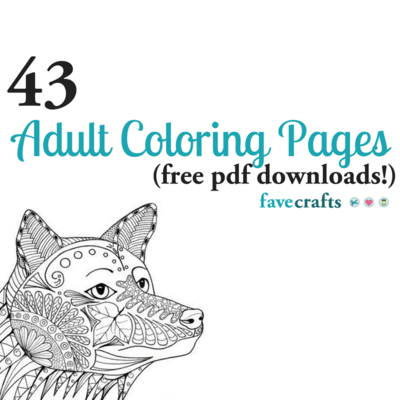 43 Printable Adult Coloring Pages PDF Downloads FaveCraftscom