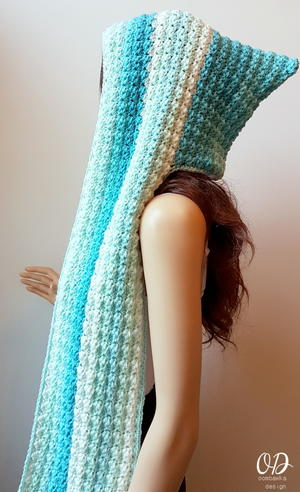 40 Crochet Hooded Scarf Patterns AllFreeCrochet New Free Hooded Scarf Crochet Pattern