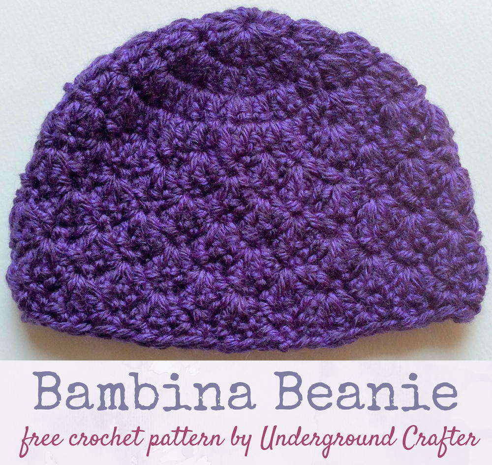 Bambina Beanie | AllFreeCrochet.com