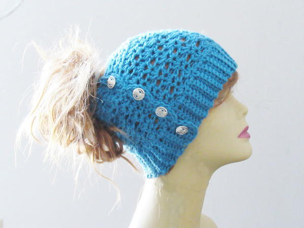 Addison Messy Bun Hat