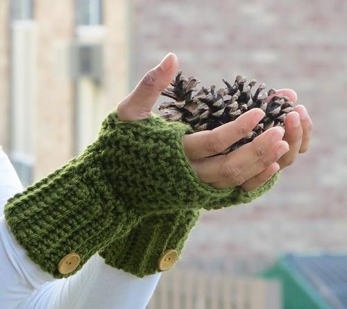 Brooklyn Crochet Fingerless Gloves Favecrafts