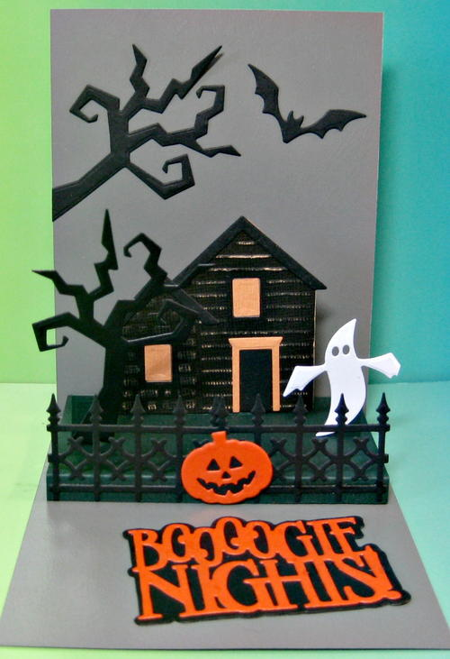 Booogie Nights Pop Up Halloween Card