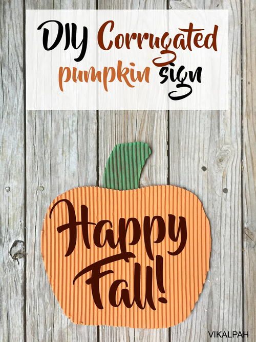 DIY Corrugated Pumpkin Sign