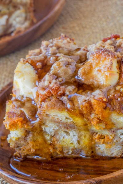 Easy Pumpkin French Toast Bake
