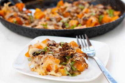Butternut Squash and Mushrooms Gratin