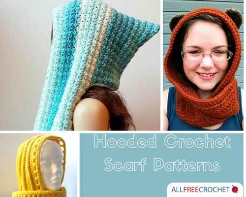 60 Free Crochet Hooded Scarf Patterns AllFreeCrochet Cool Crochet Hooded Scarf Pattern