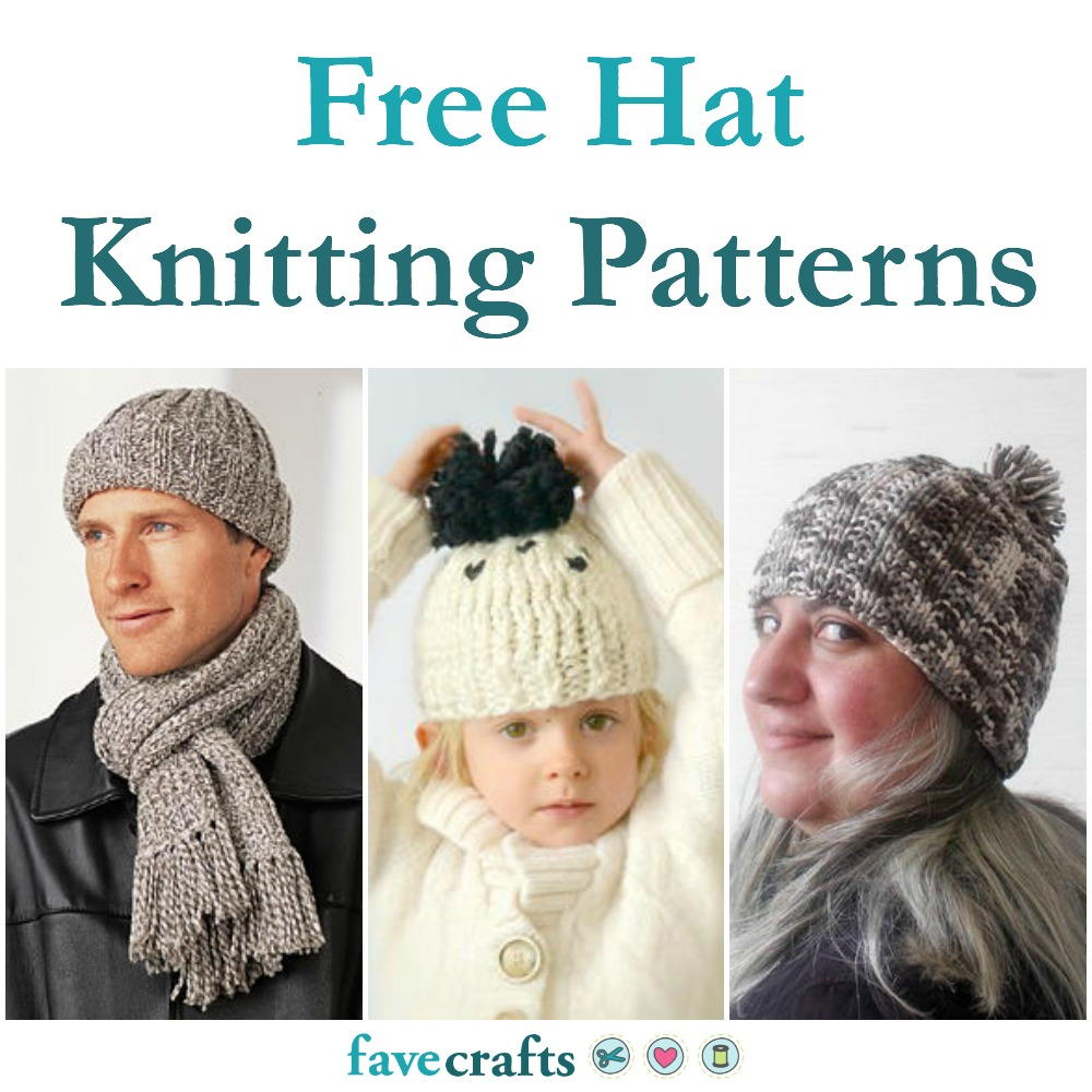 Stripe Hat in Rib Stitch | FaveCrafts.com