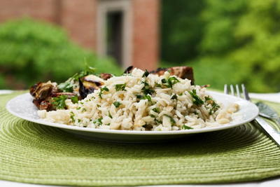 Almond Parsley Rice Pilaf