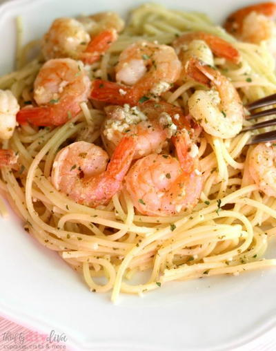 Simple Slow Cooker Shrimp Scampi