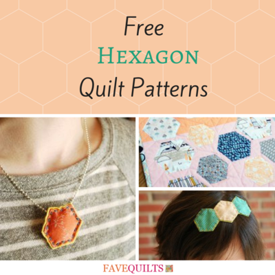 11 Free Hexagon Quilt Patterns | FaveQuilts.com : hexagon quilt pattern free - Adamdwight.com