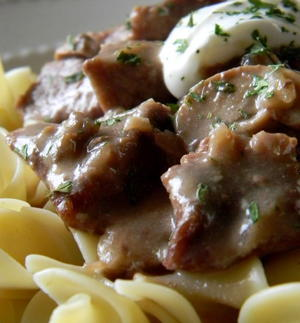 All Day Creamy Beef Stroganoff